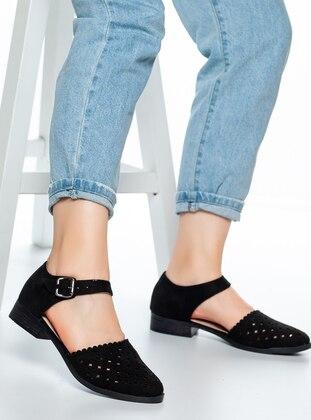 Black - Flat - Flat Shoes - Moda Değirmeni