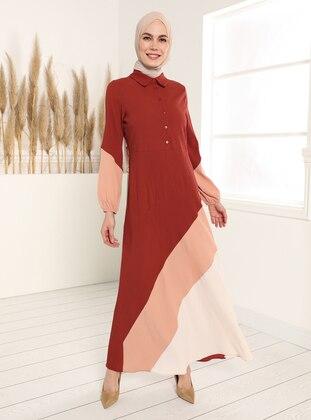 Garni Dress - Tile Salmon Beige