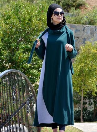 Emerald - Unlined - Crew neck -  - Abaya