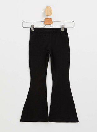 Black - Girls` Leggings