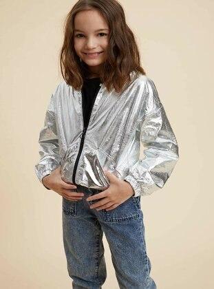 Silver tone - Girls` Raincoat - DeFacto