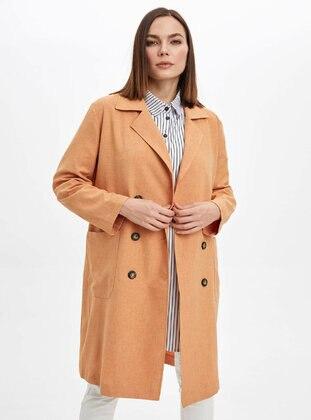 Orange - Trench Coat