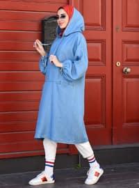 Blue - Denim - - Tunic