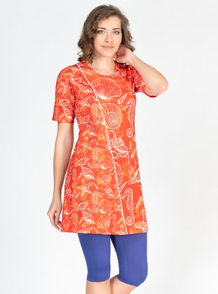 Orange - Multi - Half Covered Switsuits