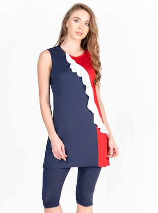 Navy Blue - Half Covered Switsuits - Alfasa