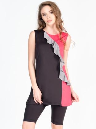 Black - Half Covered Switsuits - Alfasa