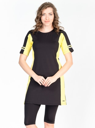 Black - Half Covered Switsuits