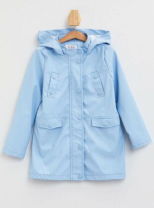 Blue - Girls` Raincoat