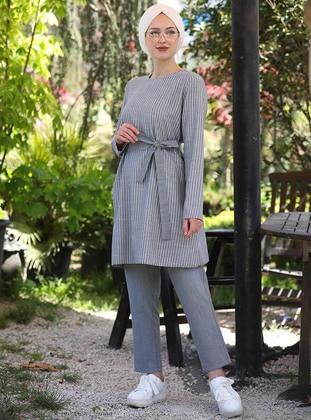 Indigo - Stripe - Unlined -  - Suit