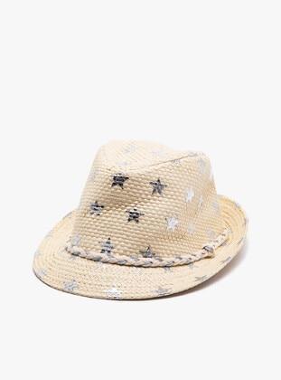 Ecru - Girls` Hat - Koton
