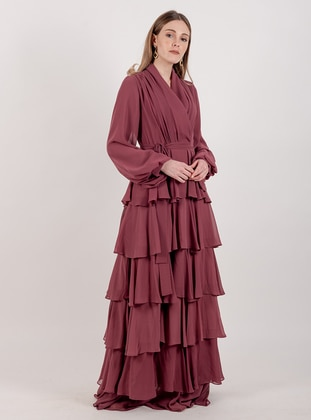 Rose - Shawl Collar - Fully Lined - Dress