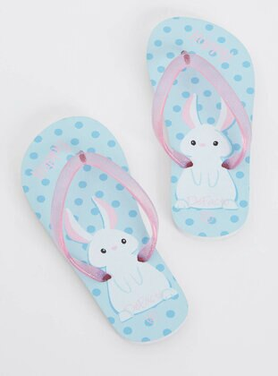 Blue - Girls` Slippers - DeFacto