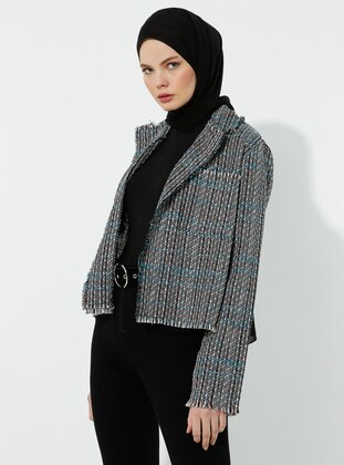 Gray - Shawl Collar - Jacket