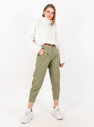 Khaki - Denim -  - Pants