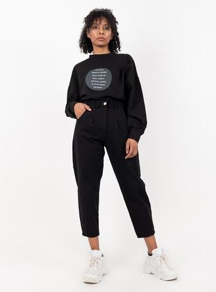 Black - Denim -  - Pants