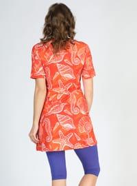 Orange - Multi - Half Covered Switsuits