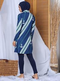 Indigo - Multi - Fully Covered Swimsuits