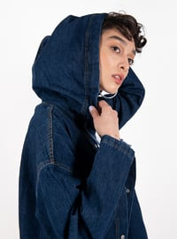 Navy Blue - Unlined - Denim - Jacket
