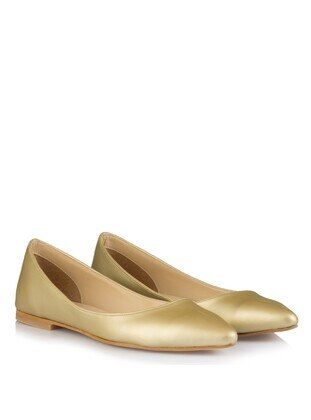 Gold - Flat Shoes