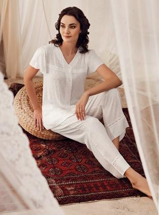 Ecru -  - Maternity Pyjamas