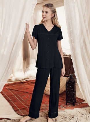 Black - - Maternity Pyjamas