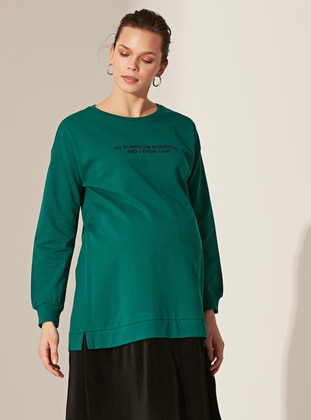 Green - Maternity Dress
