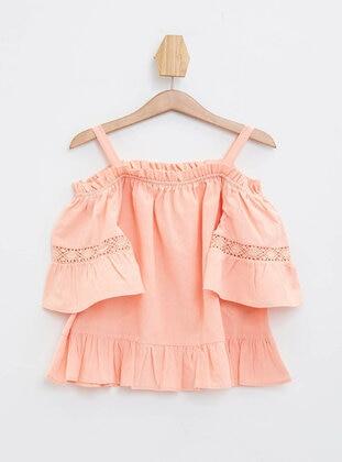 Pink - Girls` Blouse - DeFacto
