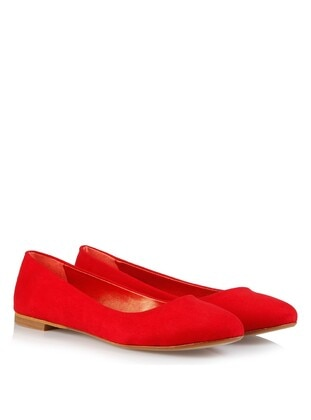 Red - Flat Shoes