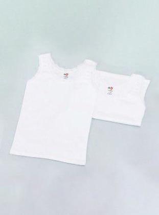 Crew neck -  - White - Girls` Underwear
