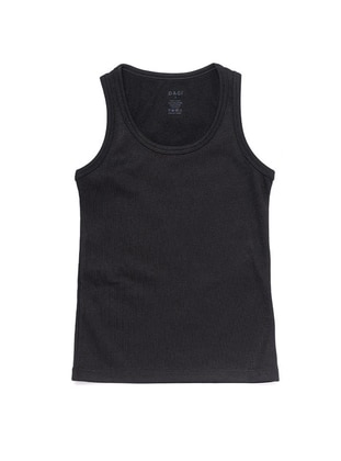 Crew neck - Viscose - Black - Girls` Underwear