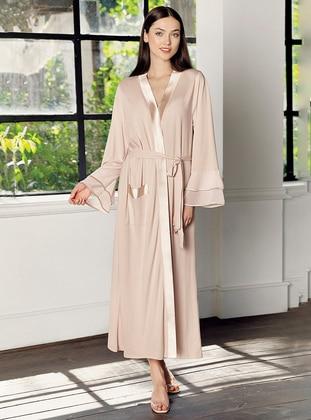 Beige -  - Viscose - Morning Robe