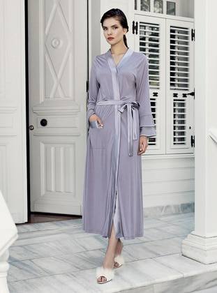 Lilac -  - Viscose - Morning Robe