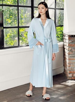 Blue -  - Viscose - Morning Robe - Artış Collection