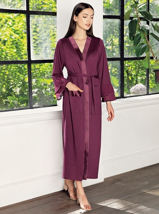 Plum -  - Viscose - Morning Robe