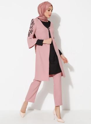 Powder - Crew neck - Muslim Evening Dress