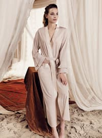 Beige -  - Viscose - Morning Robe
