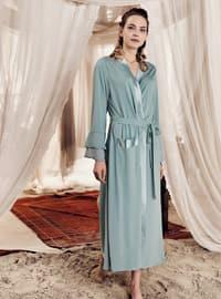 Green Almond - Green - - Viscose - Morning Robe