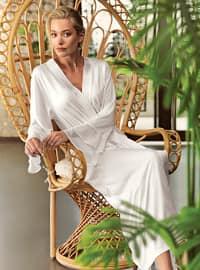 Ecru - - Viscose - Morning Robe