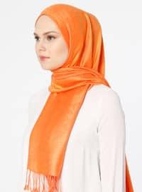 Orange - Plain - Pashmina - Shawl
