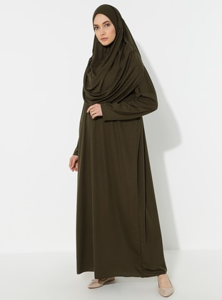 Khaki - Unlined - Prayer Clothes - SAYIN TESETTÜR