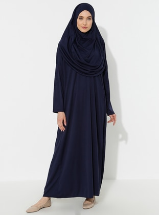 Navy Blue - Unlined - Prayer Clothes - SAYIN TESETTÜR