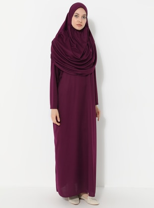 Plum - Unlined - Prayer Clothes - SAYIN TESETTÜR