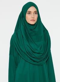 Zümrüt Yeşili - Astarsız Kumaş - Namaz Elbisesi