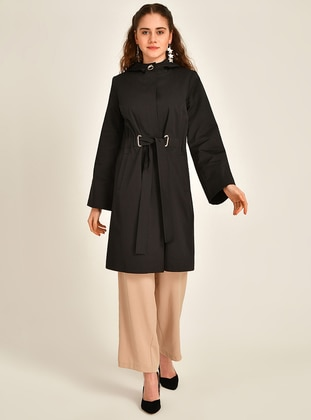 Black - Fully Lined -  - Trench Coat