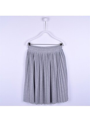 Gray - Girls` Skirt - Silversun