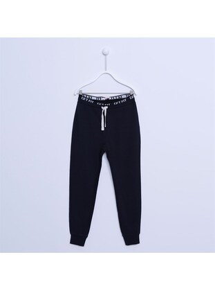 Black - Girls` Pants - Silversun