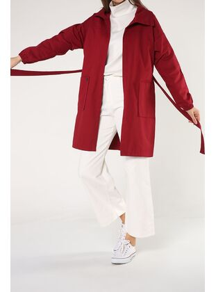 Maroon - Trench Coat