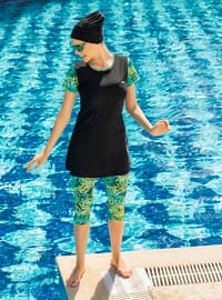 Black - Unlined - Fully Covered Swimsuits