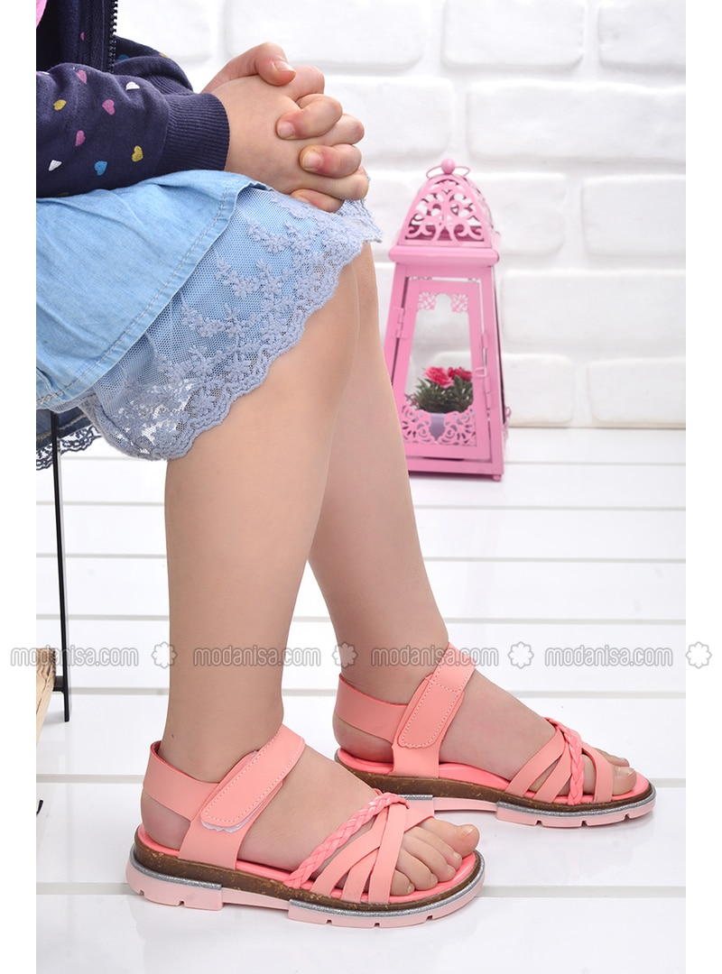 Salmon - Girls` Sandals