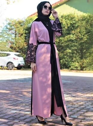 Unlined - V neck Collar - Abaya
